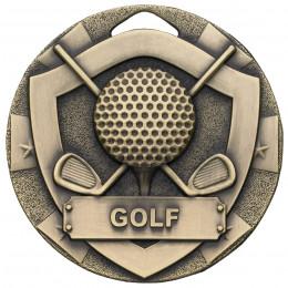 Bronze Golf Mini Shield Medal