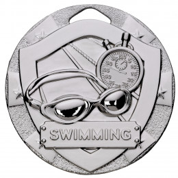 Silver Swimming Mini Shield Medal