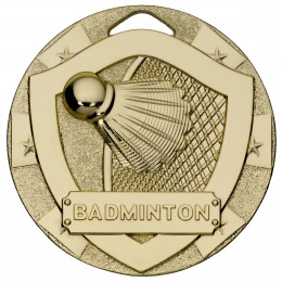 Badminton Mini Shield Medal