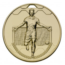 Gold Football Scorer Male Medal