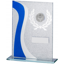 Blue Glitter Glass Award