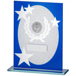 Blue Glitter Glass Award