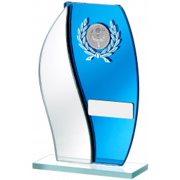 Mirrored Blue Glass Award