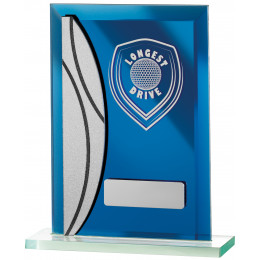Golf Longest Drive Blue Mirrored Award