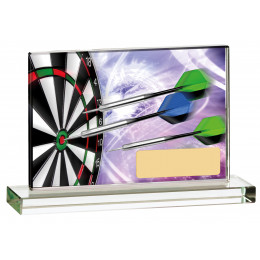 Darts Printed Glass Plaque