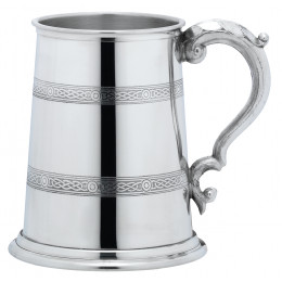 1 Pint Celtic Band Pewter Tankard