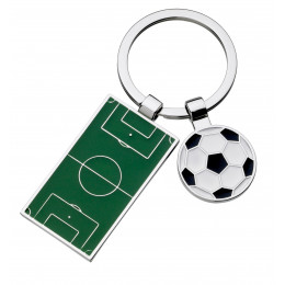 Football Pitch And Ball Keyring