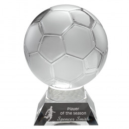 Clear & Frosted Glass Football On Base