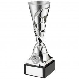 Silver Plastic Football Trophy Cup