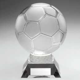 Large Clear Glass Football Trophy