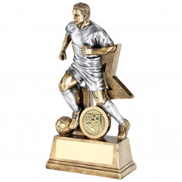 Male Football Figure With Star Backing Trophy