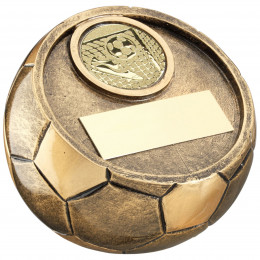 Full 3D Angled Football Trophy