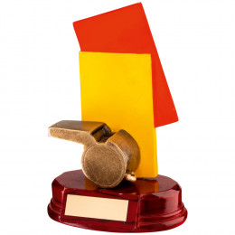 Resin Referee 'Cards+Whistle' Trophy