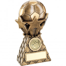 Football And Stars Net Burst Trophy
