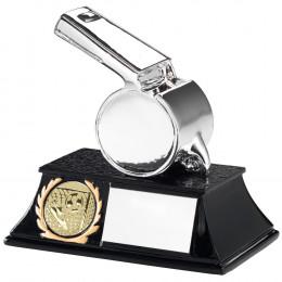 Silver Metallic Whistle Trophy