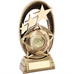 Football Tri-Star Oval Plaque Trophy