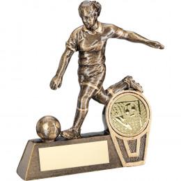 Mini Female Football Figure Trophy