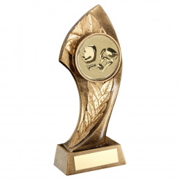 Bronze Twisted Leaf With Boxing Insert Trophy