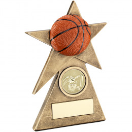 Basketball Star On Pyramid Base Trophy