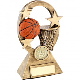 Basketball Oval & Stars Series Trophy