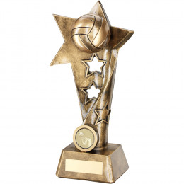 Netball Twisted Star Column Trophy