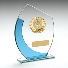 Oval Glass With Wreath Trim Trophy