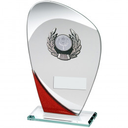 Glass Plaque With Silver & Black Trim Trophy