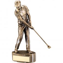 Male 'Mid Swing' Golfer Trophy