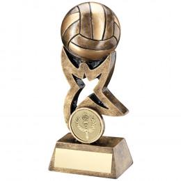 Gaelic Football On Star Trophy Riser Trophy