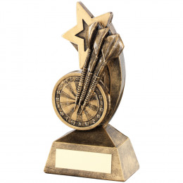 Dartboard & Darts With Shooting Star Trophy