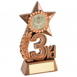 Leaf And Star Award Trophy - Bronze 3rd