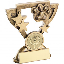 Dog Paw Mini Cup Trophy
