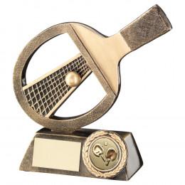 Table Tennis Bat, Net & Ball Trophy