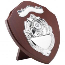 Mahogany Shield With Chrome Fronts