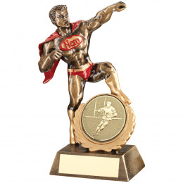 Resin Generic 'Hero' Award With Rugby Insert
