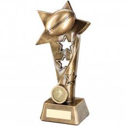 Rugby Twisted Star Column Trophy