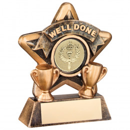 Mini Star 'Well Done' Trophy