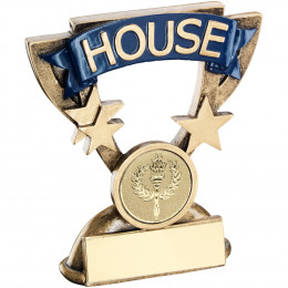 School House Mini Cup Trophy Blue