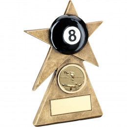 Pool Star On Pyramid Base Trophy