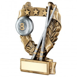 Bronze & Pewter Pool & Snooker 3 Star Wreath Award Trophy