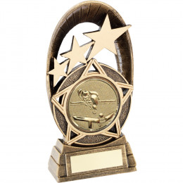 Generic Tri-Star Oval With Pool/Snooker Insert Trophy