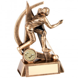 Female Lawn Bowls Geo Figure Trophy