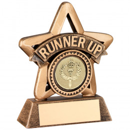 Resin 'Runner Up' Mini Star Trophy