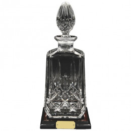 Crystal Decanter on Wood Stand