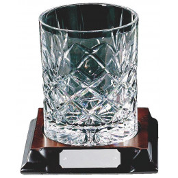 Crystal Spirit Tumbler on Wood Base