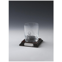 Spirit Glass on Wood Stand
