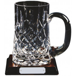 Crystal Tankard on Wood Stand (Pint)