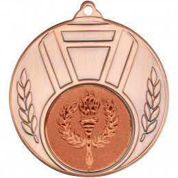 Ribbon And Leaf Medal Bronze