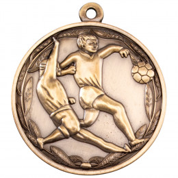 50mm Double Footballer Medal