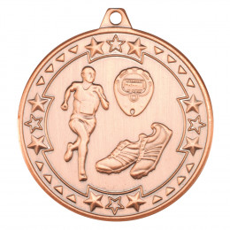 50mm Running 'Tri Star' Medal